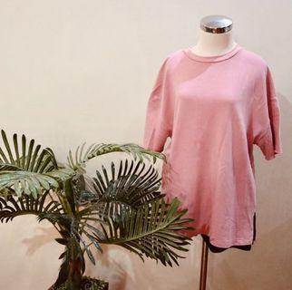 Bersha Oversize Pink Top