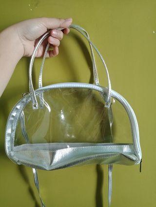 Handbag silver transparan