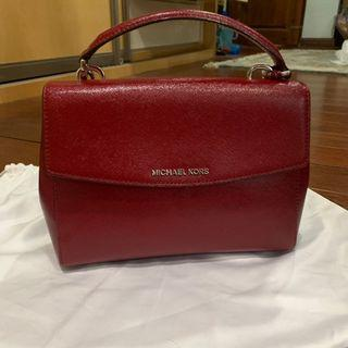Micheal Kors Small Ava in Cherry