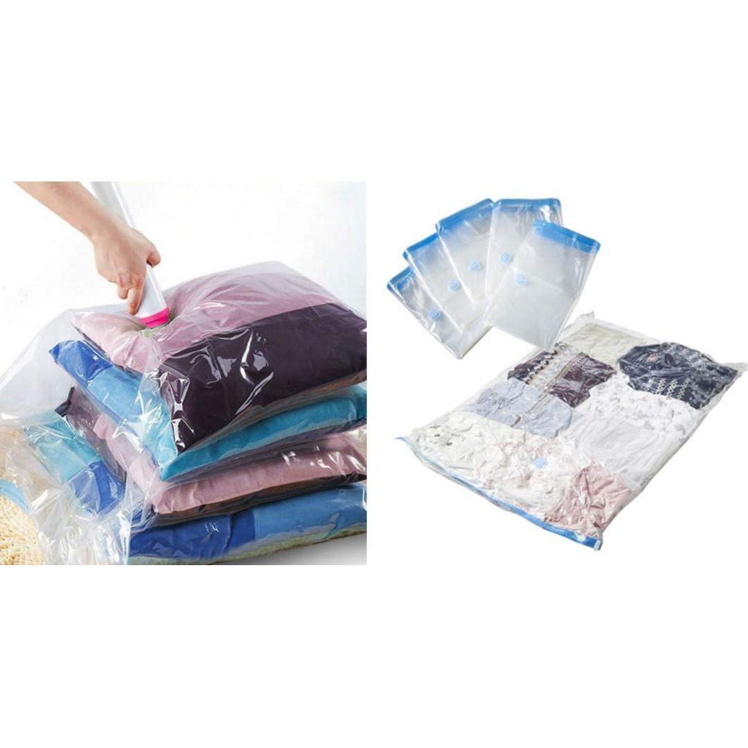 10 Travel Compressed Space Saving Bags S,M,L