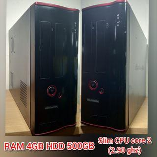 CPU komputer PC CPU Intel RAM 4GB HDD 500GB