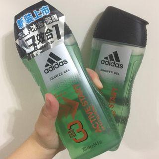 adidas 愛迪達 男用 三效能量 潔顏 洗髮 沐浴露 250ml