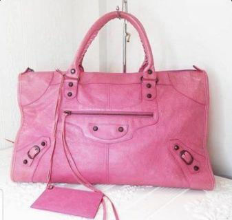 Balenciaga Classic Tote Pink Handbag