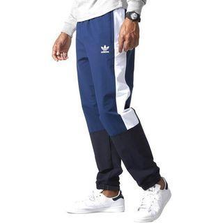 A Adidas Originals Track Jogger Pants 3 Stripes Blue White