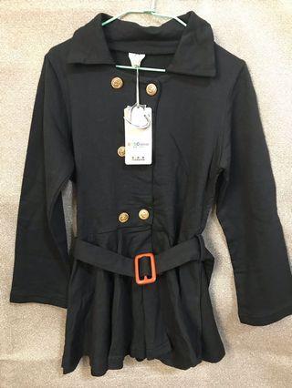 黑色風衣洋裝