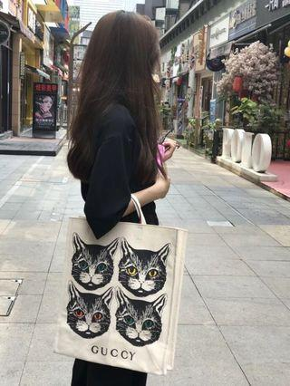 Gucci Garden Tote Bag-cat-(long strap included)