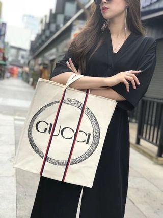 Gucci Garden Tote Bag-snake-(long strap included)