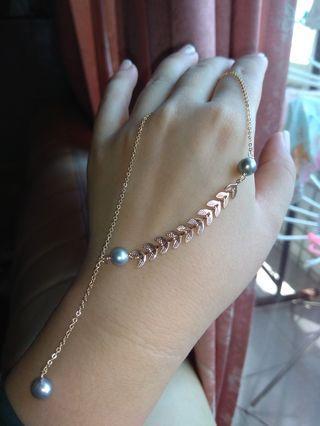 天然淡水珍珠項鏈 奶奶灰項鏈