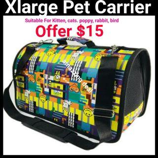 Pet Carrier FOLDABLE Xlarge Suitable For Kitten Cats Rabbit Puppy
