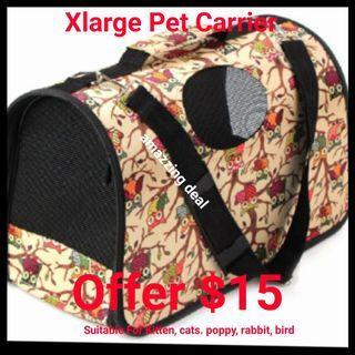 Pet Carrier Bag FOLDABLE Washable Xlarge
