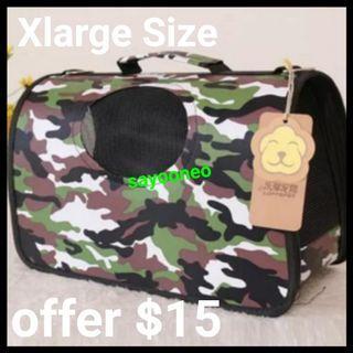 Pet Carrier Amo Army Design Xlarge Foldable