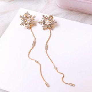 Suki Snowflake Rhinestone Earrings