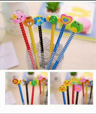 20 pcs HB pencil with eraser,  kid birthday party stationery goodies item