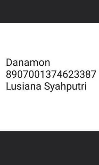HATI - HATI BANYAK PENIPU Rekening Danamon 8907001374623387 an  Lusiana Syahputri