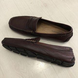GH Bass Leather Loafers Driving Shoes Size 9.5