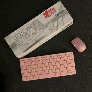 粉紅無限鍵盤滑鼠組