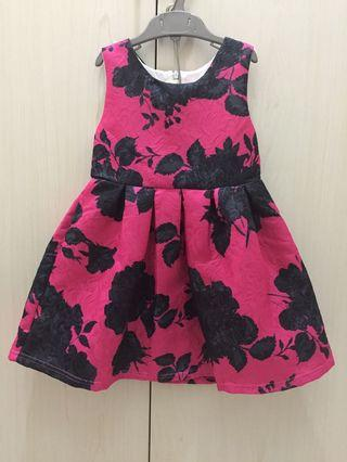 Dress pesta anak size 3-4y