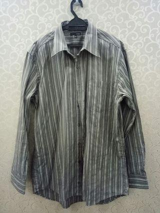 Padini stripe shirt (grey)