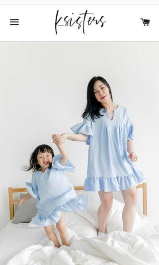 Ksisters Tunic Top - Baby Blue