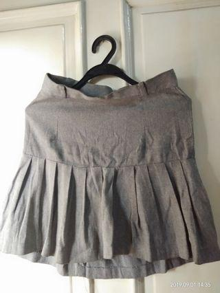 Grey Flare Skirt #SALE 50%