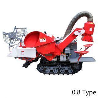 4LZ-0.8 Agriculture Full Feeding Crawler Mini Combine Harvest Wheat Rice Harvester Machine