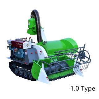 4LZ-1.0 Agricultural Mini Corn Maize Small Wheat Paddy Rice Combine Harvester
