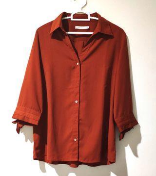 Blouse Merah Bata - Brick