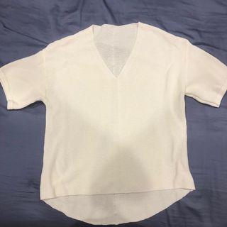 全新-白色罩衫內搭背心即可