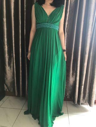 Green Evening Dress