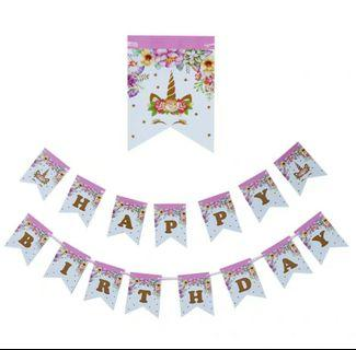 Unicorn birthday Party Banners, kid birthday party item
