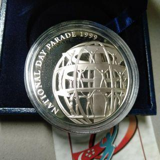 Singapore 1999 NDP silver proof medallion