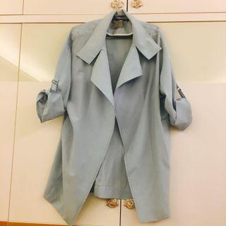 全新韓國Around101購入 淡藍經典款風衣