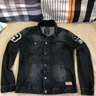 PULL & BEAR Patch Denim jacket