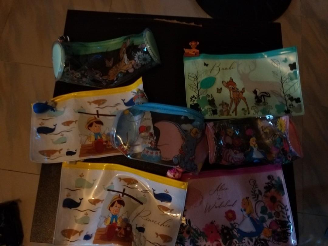 迪士尼筆袋全新 80蚊7個