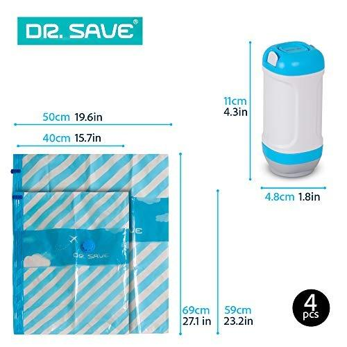 DR SAVE Mini Vacuum Portable Travel Light Kit for Packing, Storage, Save space!