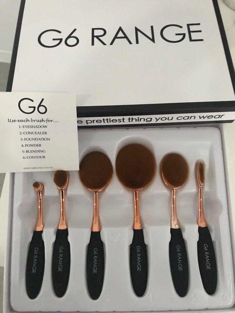 G6 makeup brush set (6 brushes) eyeshadow concealer foundation powder blending contour