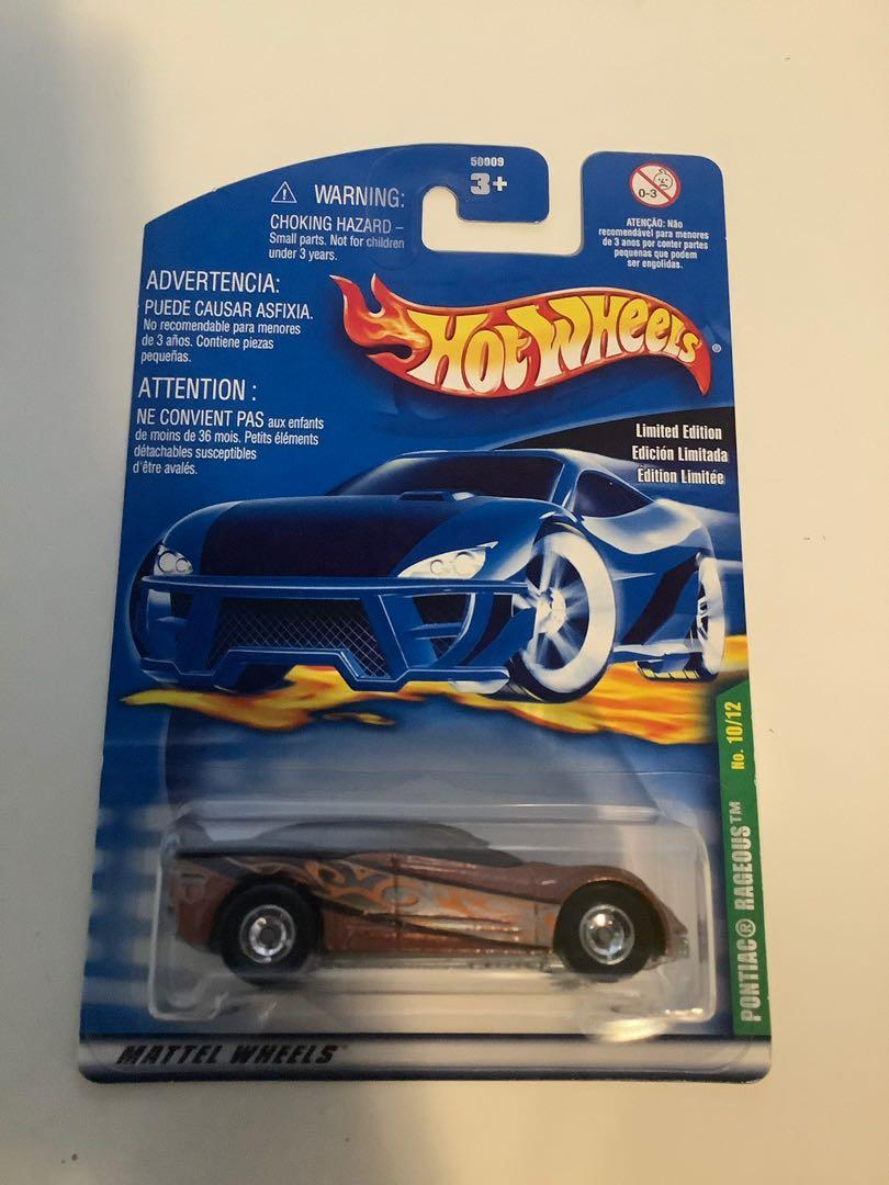 Hot wheels 2000 SUPER TREASURE HUNT Pontiac rageuos rare limited edition diecast car with real riders