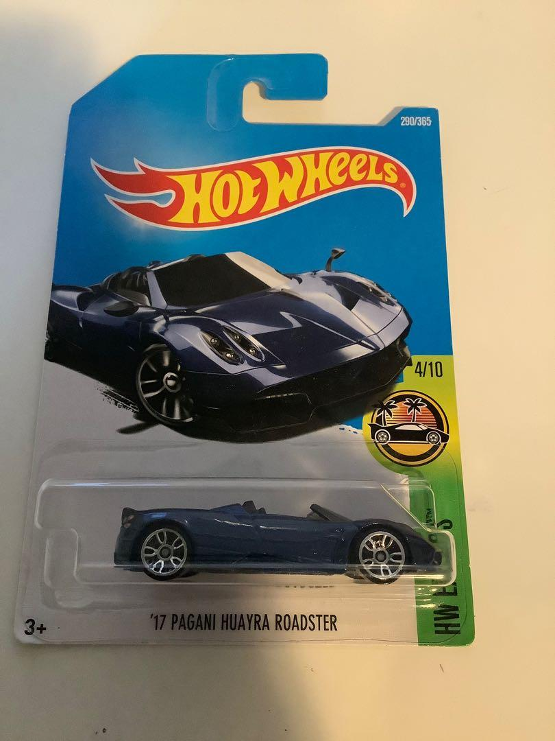 Hot wheels 2017 pagani huayra roadster rare diecast sports car