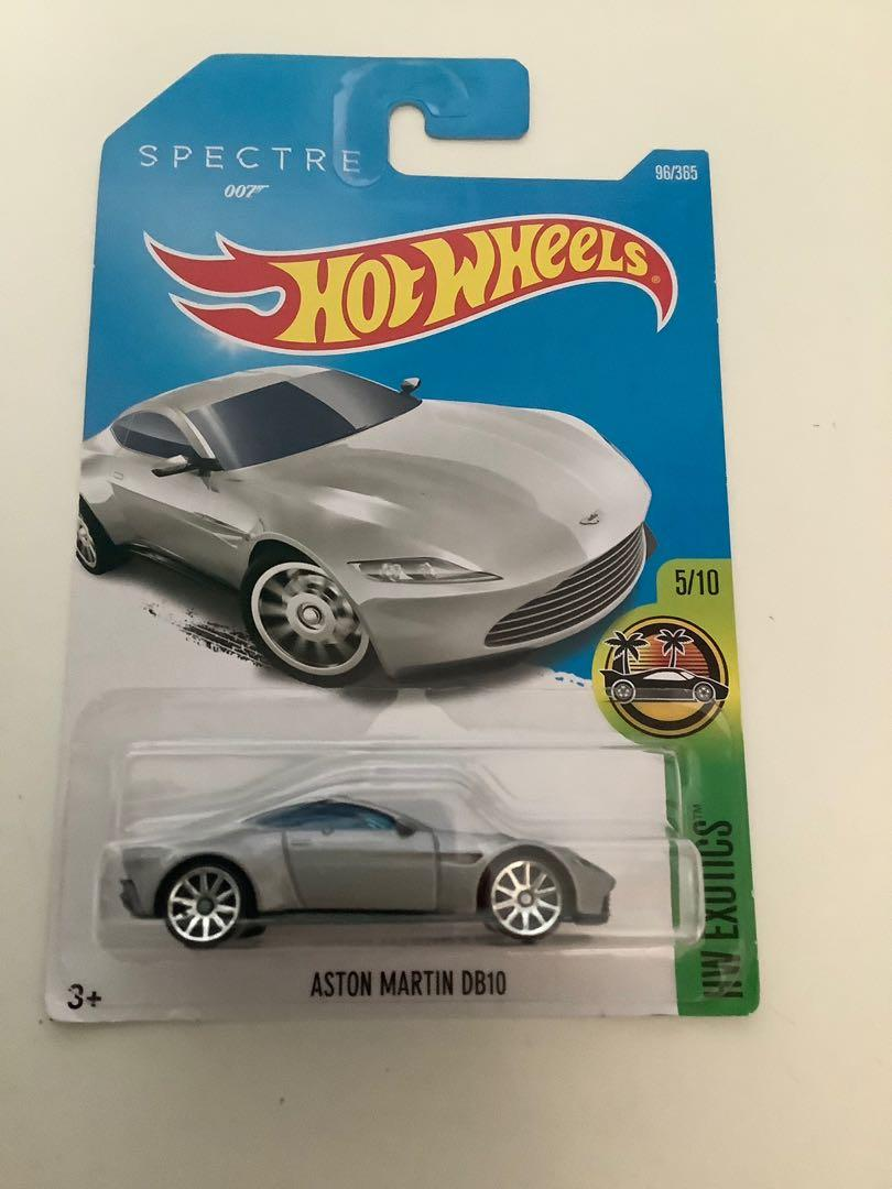Hot wheels silver Aston Martin DB10 spectate 007 James Bond collectible diecast sports car
