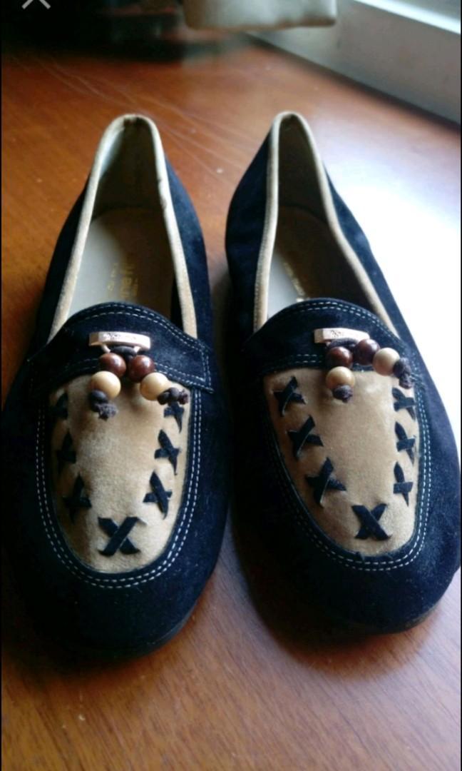 日本製造jeune fille 豹紋 娃娃鞋 便鞋 23 Timberland Nine West