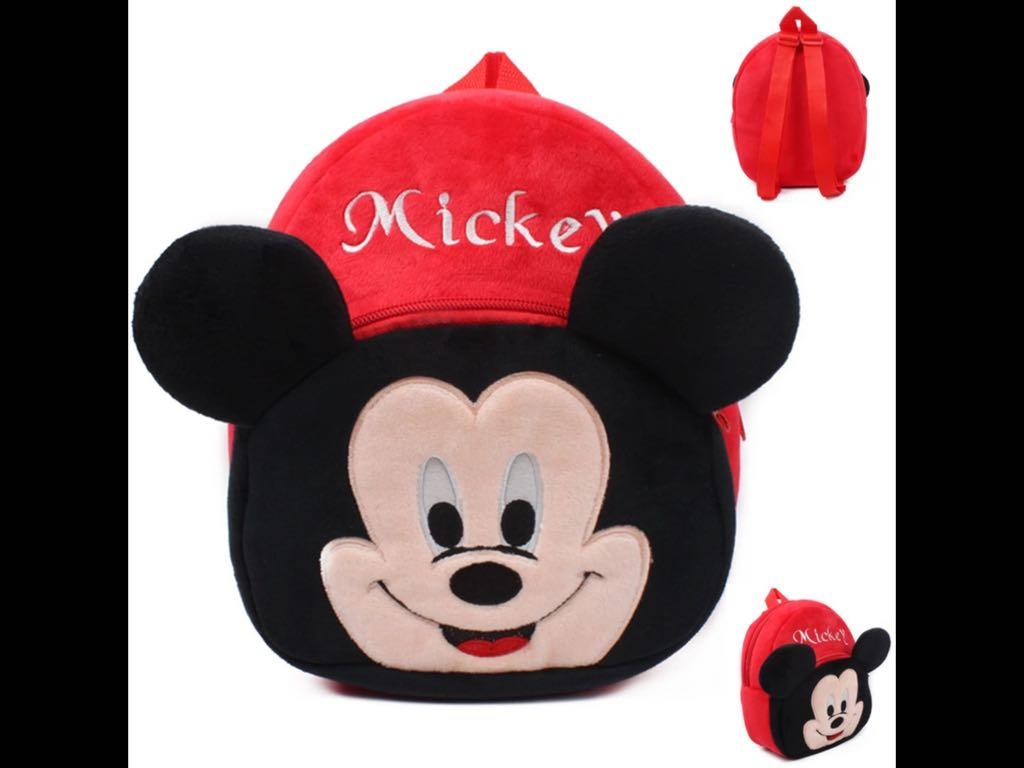 Kids Plush BagPacks Minnie SpiderMan Batman Mickey lightweight & washable