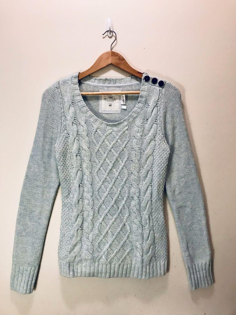 L.O.G.G by H&M knitted sweater in light blue- size S