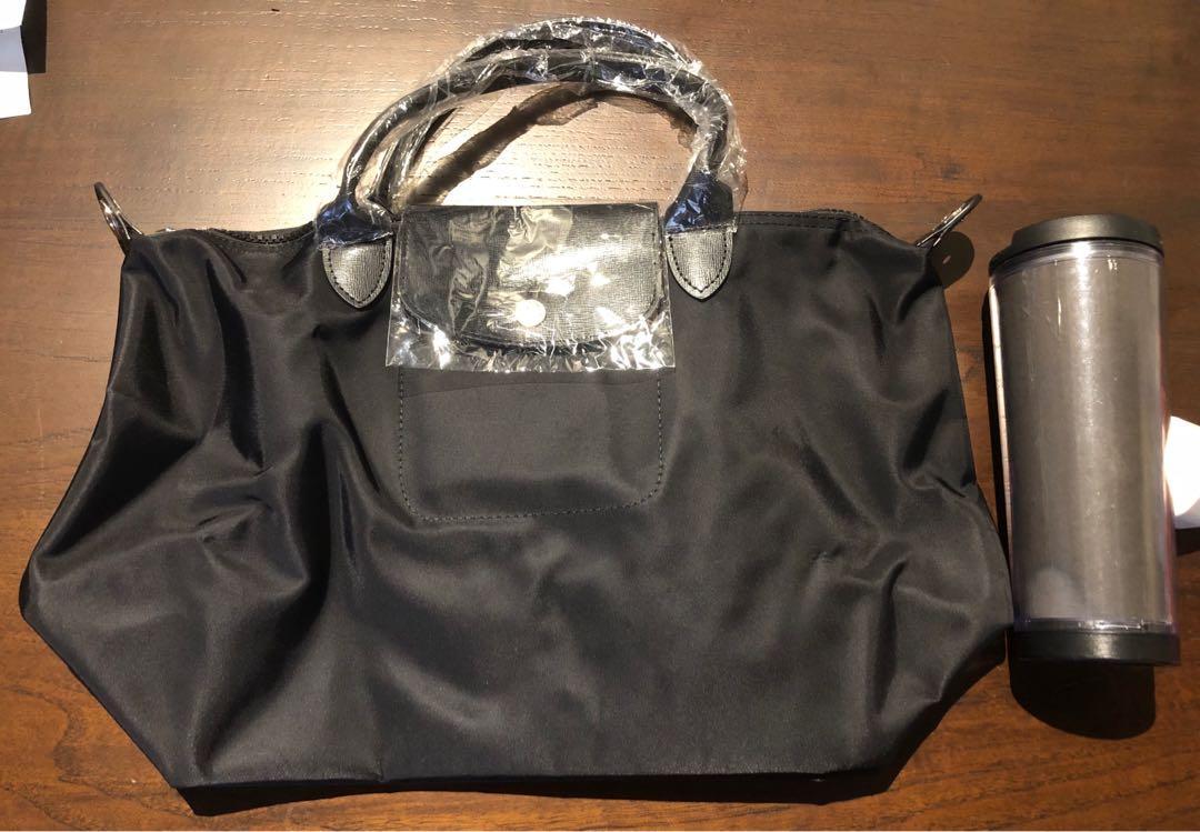 Longchamp super mirror all black
