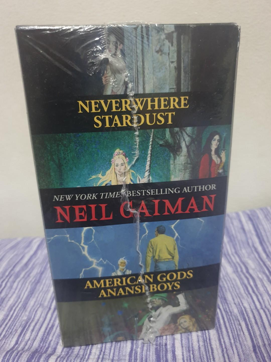 Neil Gaiman's exclusive boxed set - Stardust, Neverwhere, Anansi Boys and American Gods