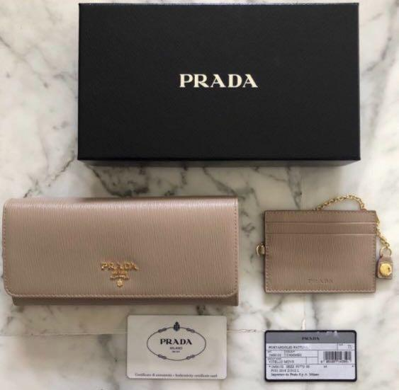 Prada Wallet (Brand new) - colour CAMMEO