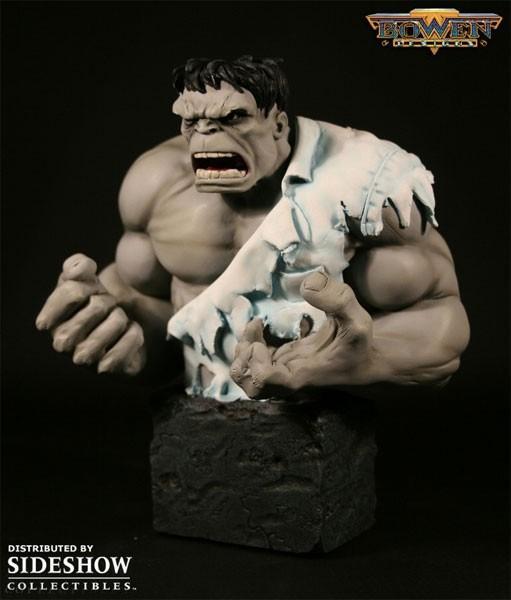 Randy Bowen Grey Hulk bust toy statue Avengers Marvel
