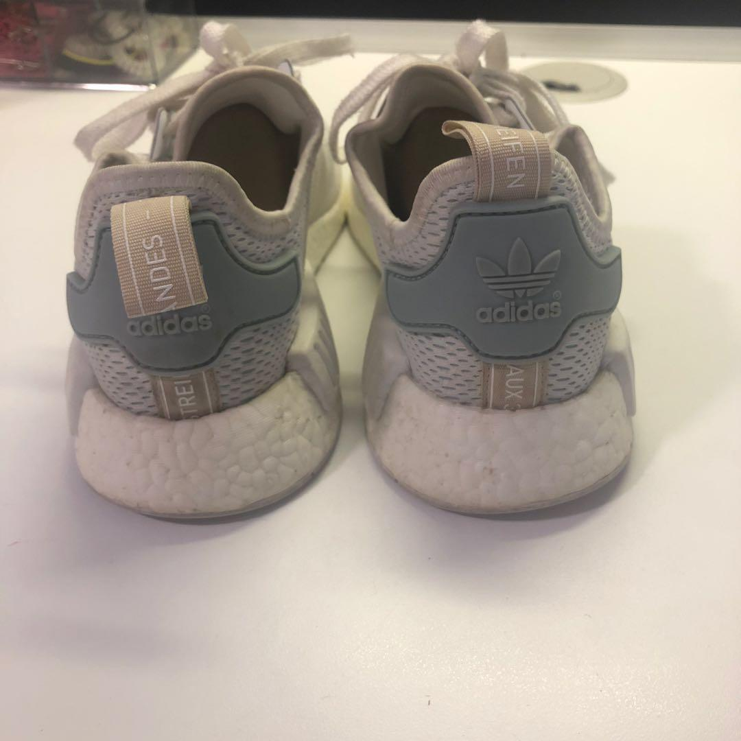 *REDUCED* AUTHENTIC ADIDAS NMD R1 TACTILE GREEN & WHITE LADIES US 7