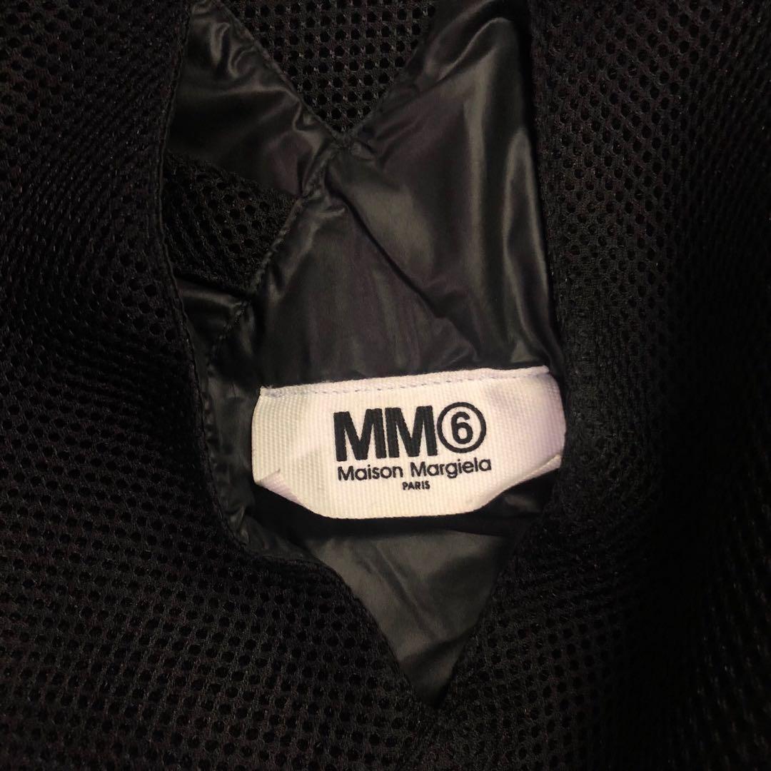 *REDUCED* AUTHENTIC MAISON MARGIELA PARIS MM6 BLACK MESH JAPANESE TRIANGLE TOTE BAG