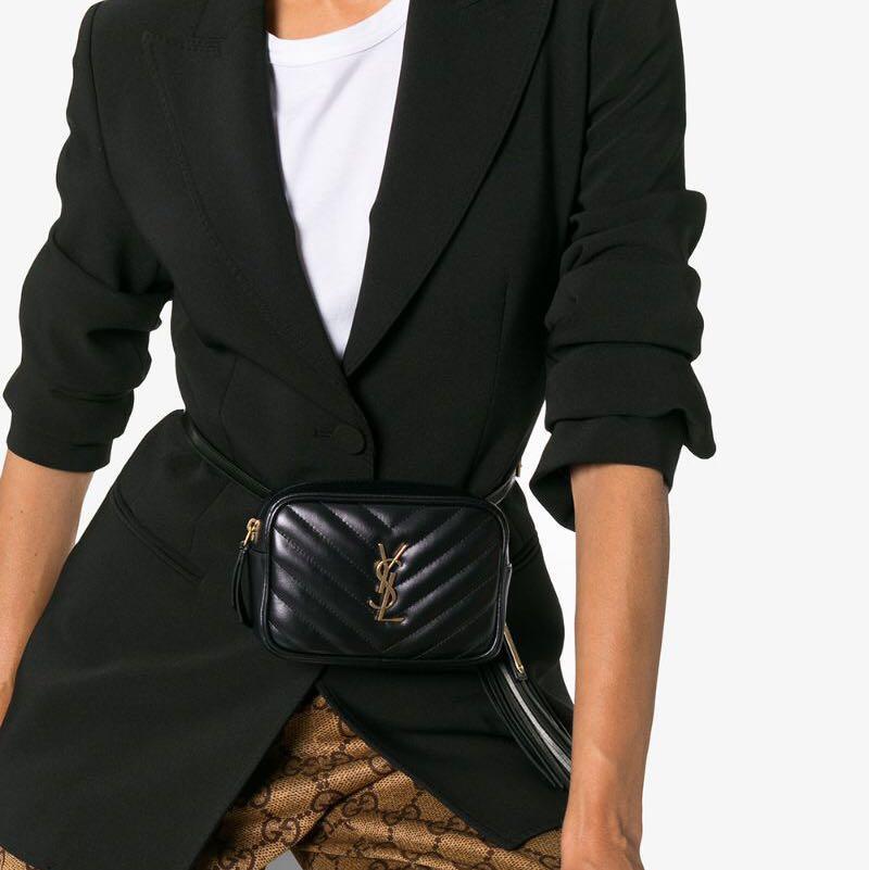YSL Saint Laurent Lou leather belt bag FESTIVAL SEASON