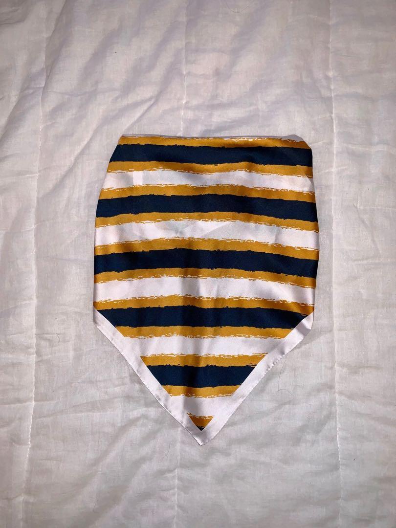 Showpo Raining Love Neck Scarf in Mustard and Navy Stripe